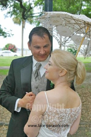 Marilyn & James/Wedding Parasol